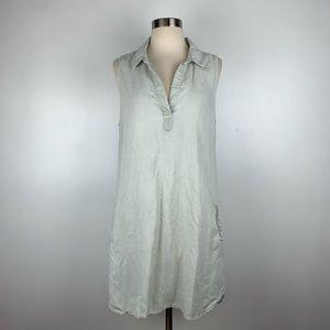 Anthro Cloth & Stone Sleeveless Shirtdress G3937